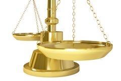 Goldgewicht-Skala Lizenzfreie Stockfotografie