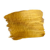 Goldglänzende Farben-Fleck-Hand gezeichneter Vektor Lizenzfreies Stockbild