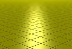 Goldglänzender mit Ziegeln gedeckter Fußboden stockbilder