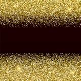 Goldglittery Beschaffenheit Goldener Vektorhintergrund des Scheins vektor abbildung