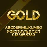 Goldguß und -zahlen Lizenzfreie Stockbilder