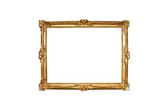 Goldhölzerner Gemälderahmen Stockbilder