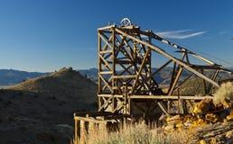 Goldhügel-Bergwerk Stockbild
