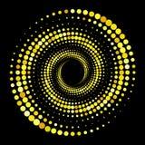 Goldhalbtonhintergrund Ursprünglicher ungewöhnlicher abstrakter Vektor lizenzfreie abbildung