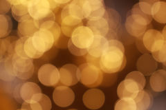 Goldhelles Hintergrund bokeh Lizenzfreie Stockfotografie