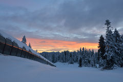 Goldie Magic Carpet on Mt. Seymour ski resort Stock Photos