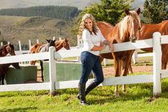 Goldilocks and her horses Royalty Free Stock Photos