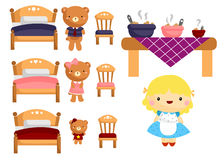 Goldilocks and the three bears Royalty Free Stock Image