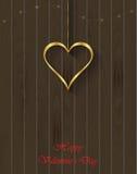 Goldinnere auf Rot Lizenzfreie Stockfotografie