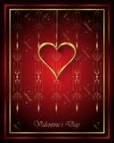 Goldinnere auf Rot Lizenzfreie Stockbilder