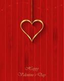 Goldinnere auf Rot Stockbilder