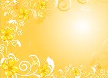 goldish предпосылки флористическое Стоковые Фотографии RF