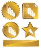 Goldish - Bar Graph Royalty Free Stock Photos