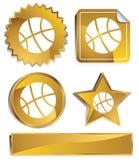 Goldish - Basketball lizenzfreie abbildung