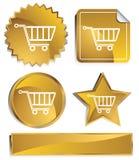 Goldish - carro de compras Foto de archivo libre de regalías