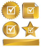 Goldish - Check-Markierung Stockfotos