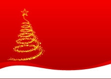 Goldish christmas tree Royalty Free Stock Images