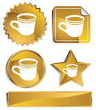 Goldish - Coffee Cup Stock Photos