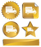 Goldish - Delivery Truck Stock Photography