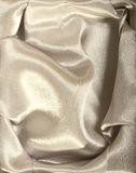Goldish fabric. Can be used like an abstract background Stock Photography