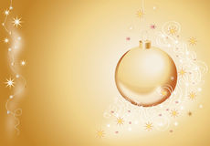 Free Goldish Fir-tree Ball With Snowflakes Stock Photo - 22075460