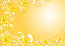 Goldish floral background Royalty Free Stock Photos