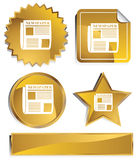 goldish gazeta Zdjęcie Stock