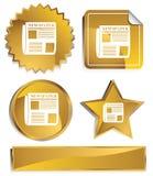 Goldish - giornale Fotografia Stock