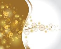 Goldish  glimmered background Stock Photo