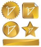 Goldish - Hangers Stock Images