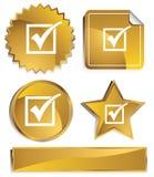 Goldish - marca de verificação Fotos de Stock