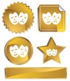 Goldish - Maska ilustração stock