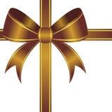Goldish ornamental bow Royalty Free Stock Image