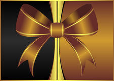 Goldish ornamental bow background Royalty Free Stock Photos