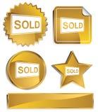 Goldish - sinal vendido Fotografia de Stock Royalty Free