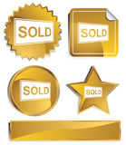 Goldish - Sold Sign Royalty Free Stock Photography