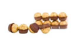 Goldish sweets. Stock Photo