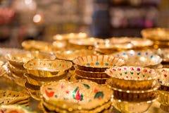 Goldish ware. Beautiful goldish ware selling on east market stock photos