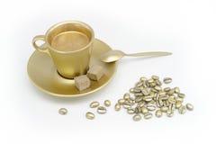 Goldkaffee lizenzfreie stockbilder