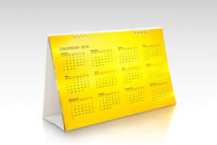 Goldkalender 2018 Stockfotografie