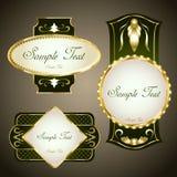 Goldkennsätze Stockbilder
