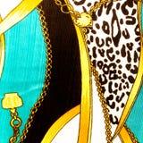 Goldkette geschlungenes Herzmuster. Für Kunstbeschaffenheit oder Webdesign a Stockfoto