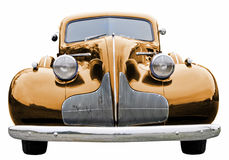 Goldklassiker-Auto Lizenzfreie Stockfotos