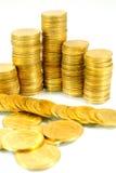 Goldkontrolltürme auf Weiß Lizenzfreies Stockbild