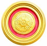Goldkreis Stockbild