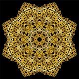 Goldkreismuster auf schwarzem Hintergrund Lizenzfreie Stockbilder