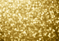Goldkreist abstraktes Hintergrund bokeh für Weihnachtshintergrund ein Lizenzfreies Stockfoto