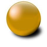 Goldkugel Stockbild