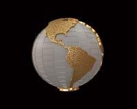 Goldkugel 3d übertragen vektor abbildung