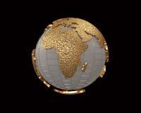 Goldkugel 3d übertragen stock abbildung